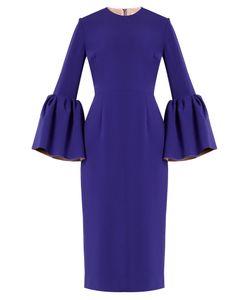 ROKSANDA | Margot Bell-Sleeved Crepe Dress