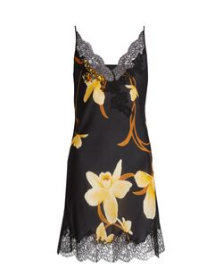 Carine Gilson | Orchid-Print Silk-Satin Cami Dress