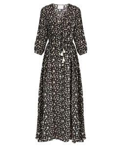 Athena Procopiou   Night Dream Print Silk Maxi Dress