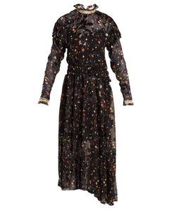 Preen By Thornton Bregazzi | Olivia Truffle-Print Silk-Blend Devoré Dress
