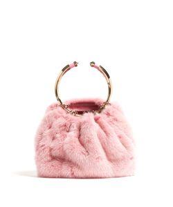 Valentino   Bebop Fur Ring Clutch Bag