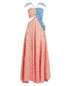Rosie Assoulin   Half And Halfprint Cotton Gown