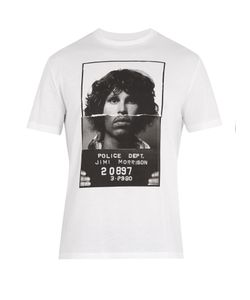 Neil Barrett | Hybrid Mugshot-Print Cotton T-Shirt