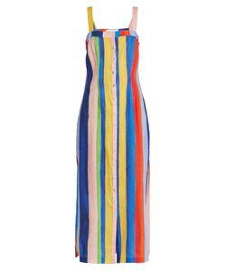 Mara Hoffman | Rainbow Watercolour Stripe-Print Midi Linen Dress