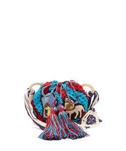 Peter Pilotto | Dinosaur-Appliqué Crochet-Cotton Shoulder Bag