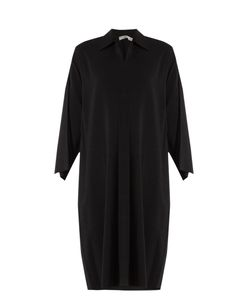 Vince | Point-Collar Stretch-Crepe Dress