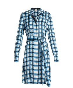 Diane Von Furstenberg | Checked Stretch-Silk Shirtdress