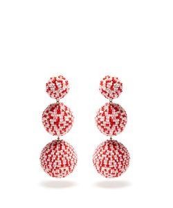 Rebecca De Ravenel | Bead-Embellished Drop Clip-On Earrings