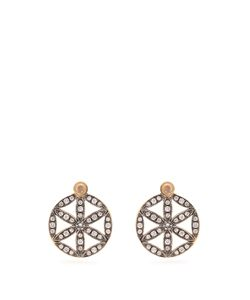 Noor Fares | Diamond Moonstone Earrings