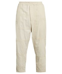 BY WALID | Morton Embroide-Panel Cotton Cropped Trousers