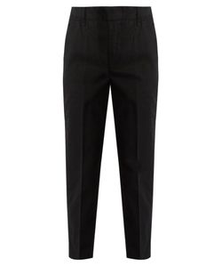 Vince | Cuffed Cotton-Blend Chino Trousers