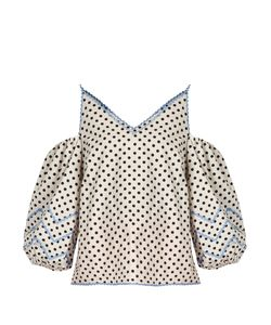 ANNA OCTOBER | Polka-Dot Cotton-Poplin Top
