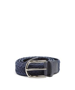 Tod'S | Woven Suede And Leather Belt