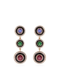 SELIM MOUZANNAR   Diamond Stone Mina Earrings