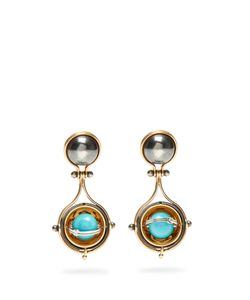 ELIE TOP | Diamond Turquoise Pluton Earrings