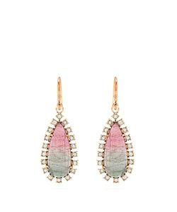 IRENE NEUWIRTH | Diamond Tourmaline Rose Earrings