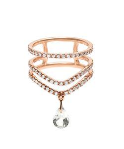 Diane Kordas | Diamond Prasiolite Rose Cosmos Ring
