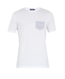 FRESCOBOL CARIOCA   Ondas-Print Pocket Cotton T-Shirt