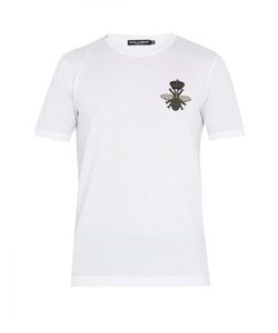 Dolce & Gabbana | Bee-Embroidered Cotton T-Shirt