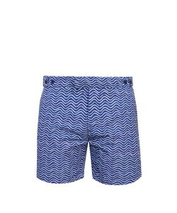 FRESCOBOL CARIOCA | Tailored Ondas-Print Swim Shorts