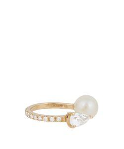 ANISSA KERMICHE | Diamond Sapphire Pearl Ear Cuff