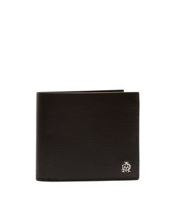 Dunhill | Engine Turn Bi-Fold Leather Wallet