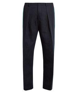 Tomorrowland | Contrast-Stripe Wide-Leg Cotton-Blend Trousers
