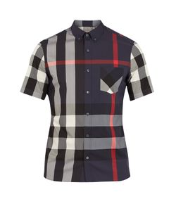 Burberry | Thornaby House-Check Print Cotton-Blend Shirt