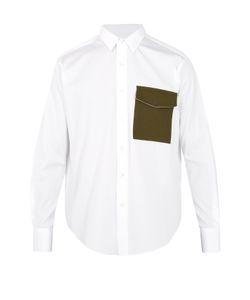 Ami | Contrast-Pocket Cotton Shirt