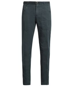Boglioli | Slim-Leg Cotton And Linen-Blend Trousers