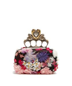 Alexander McQueen | -Embellished Satin Knuckle Clutch