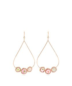 JACQUIE AICHE | Diamond Tourmaline Roseearrings