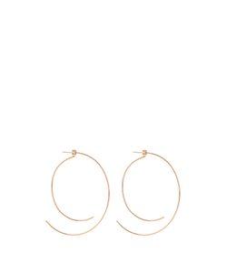 Diane Kordas | Rose Curved Hoop Earrings