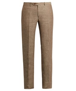 Brioni | Straight-Leg Linen Trousers