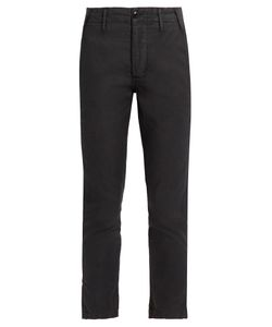 THE GREAT | The Miner Mid-Rise Slim-Leg Trousers