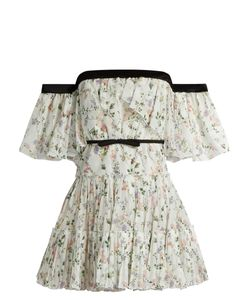 Giambattista Valli | Off-The-Shoulder Print Georgette Dress