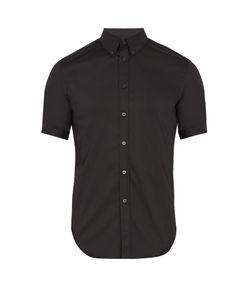 Alexander McQueen | Short-Sleeved Cotton-Blend Poplin Shirt