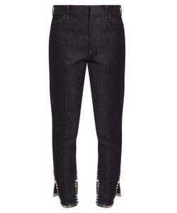 Toga | Stud-Embellished Cropped Straight-Leg Jeans