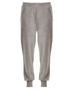 Allude | Mid-Rise Cashmere Track Pants