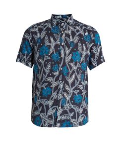 Etro | -Print Short-Sleeved Linen Shirt