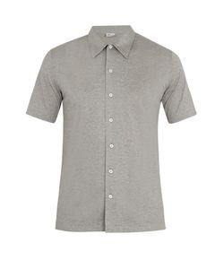 Brioni | Short-Sleeved Cotton-Jersey Shirt