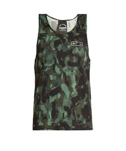 THE UPSIDE | Sketchy Camouflage-Print Performance Tank Top