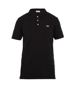 Maison Kitsune | Fox-Applique Cotton-Piqué Polo Shirt