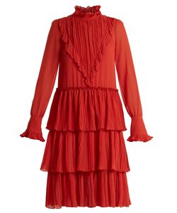 See By Chloe | Tiered Ruffle-Trimmed Crepe Dress