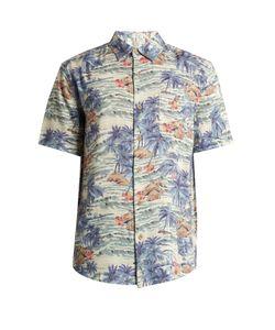 Faherty   Tahitian Dreams-Print Patch-Pocket Shirt