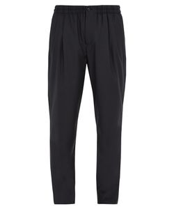 Giorgio Armani | Pleated-Front Wool And Cashmere-Blend Trousers