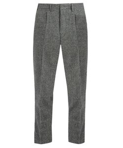 The GIGI | Tonga Tapered-Leg Cropped Wool Trousers