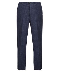 HELBERS | Mid-Rise Linen Trousers