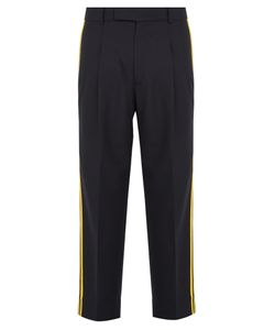 Gucci | Wool Striped-Panel Trousers