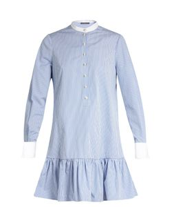 Alexander McQueen | Mandarin-Collar Cotton-Poplin Shirtdress